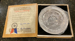 """1975 Anheuser-busch """"americana Series Plate"""" Solid Sterling Silver - Grants Farm"""