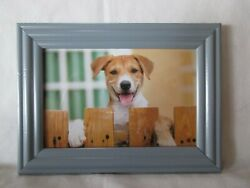Beagle Mix Dog Waiting For Me Framed 4 X 6quot; Card Print