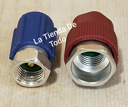 Automotive Ac Air Conditioning Recharge Refill Hose Gauge And Attachments Read