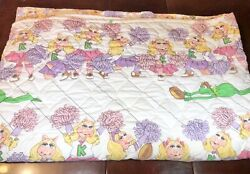 Vintage 1980 Muppets Blanket Cheerleading Miss Piggy And Kermit The Frog, Jc Penny