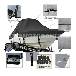 Parker 2100 Center Console All Weather T-top Hard-top Fishing Boat Cover Black