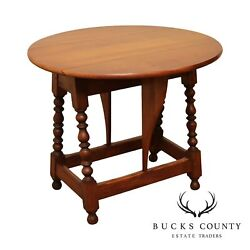 Conant Ball Antique Maple William And Mary Style Drop Leaf Side Table