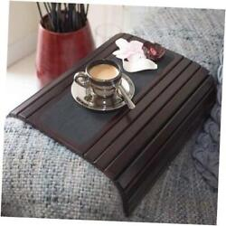 Couch Arm Table Sofa Arm Tray - Flexible Foldable Coaster Tray. C Table Brown
