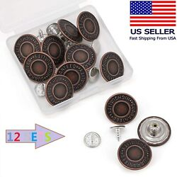 Jean Button Pins 3 4 inch Vintage No Sew Instant Replacement Combo Copper Tack $8.99