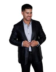 Scully Western Jacket Mens Leather Button Stitched Blazer F0_719