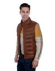 Scully Western Vest Mens Horizontal Rib Zip Front Point Collar F0_619