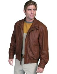 Scully Western Jacket Mens Zip Double Collar Comfort Waist F0_48