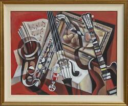 Erik Freyman, Trio In Red, Acrylic On Canvas, Signed Lower Left