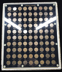 1909-1940 Lincoln Wheat Cent Set In Capital Plastics Holder 495-a - 88 Coins