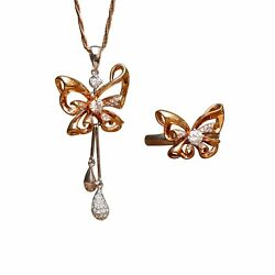 18k Rose White Gold Butterfly Pendent Kg244 Kg245 Ring Details Will Come Soon