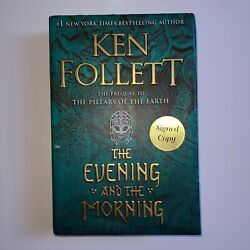 The Evening and the Morning by Ken Follett SIGNED Book $46.75