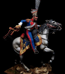 Tin Toy Soldier 90 Mm.superb Elite Luxury Painting In St.petersburg.trumpeter
