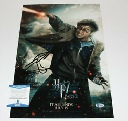 Daniel Radcliffe Signed Harry Potter And The Deathly Hallows Part 2 Poster Bas Coa