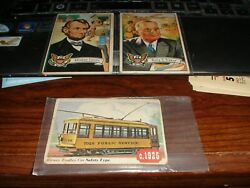 62 Vintage Topps Non Sport Cards Cars Jets Planes Freedoms War Presidents Trains