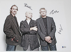 Genesis Phil Collins Mike Rutherford Tony Banks Signandeacute 11x14 Photo Beckett Coa