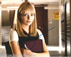 Sexy Actress Emma Stone Signed The Amazing Spiderman 8x10 Photo Coa Gwen Stacy A