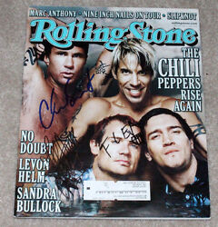 Red Hot Chili Peppers Band Signed Authentic Rolling Stone Magazine Coa Kiedis X3