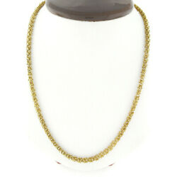 Italian Vintage Ruth Satsky 18k Gold Twisted Wire Textured Fancy Chain Necklace