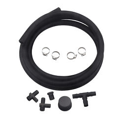 Pcv Reroute Kit Hose With Upgraded For 2004.5-2010 Duramax Diesel 6.6l Black