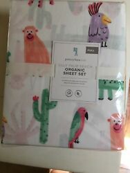 Pottery Barn Kids Silly Palm Beach Full Sheet Set 4-pc Animals Colorful New