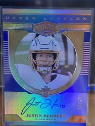 Justin Herbert 2020 Panini Plates And Patches Upper Echelon On-card Auto /20 Rare
