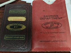 Vintage 1935 National Bank 1st In St Louis Savings Account Book Excellent