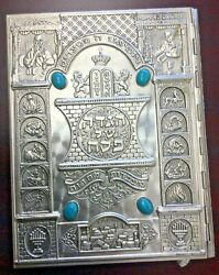 The Haggadah By Arthur Szyk Metal Turquoise Jeweled Cover Very Good Condition