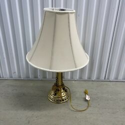 Vintage Neoclassical Style Brass Columnar Table Lamp Made By Stiffel Mid 20th C