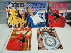 5 Blues Guitar Method Books And Cd's Lead Rhythm Solos Acoustic Gelling And B Duncan