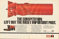 1989 Print Ad Of Case Ih International Harvester 1660 Axial Flow Combine Tractor