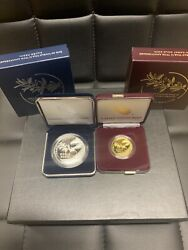 2020 W End Of World War 2 Ww2 75th1/2oz 24k Gold + 2020 V75 Silver Eagle Bundle