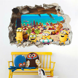 Minions Despicable Me 3 Removable Kids Decor Art Decals DIY Wall Sticker Mural