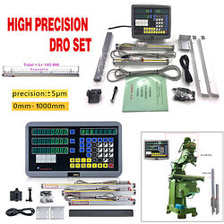 Digital Linear Scale 2axis/3axis Readout Dro Display Kit Cnc Milling Lathe Us