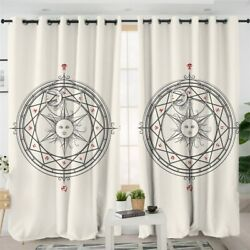 Astrology Sun Witchcraft Magic Window Living Room Bedroom Curtains Drapes