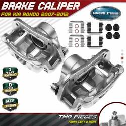2pcs Disc Brake Caliper With Bracket For Kia Rondo 2007-2012 Front Left And Right