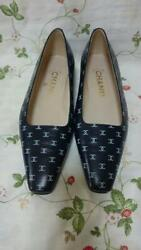 Authentic Vintage Flat Shoes Size 36 Us6 Navy New Deadstock