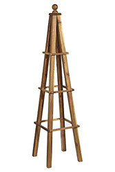 Classic Home And Garden 9/802/1 Wood Obelisk 1 Pack Acacia