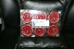6 RED ROSE FLOATING CANDLES STUDIO HIS amp; HERS BRAND