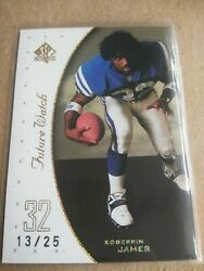 1999 Sp Authentic Edgerrin James Excitement Gold Rookie 13/25 His Holy Grail
