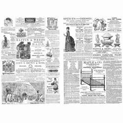 Victorian Adverts Dresses, Beds, Bags Bikes - Double Sided Antique Print 1884