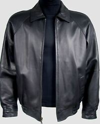 1011 Mens Soft Premium Leather Bomber Jackets And Coats For Size Long Tall