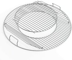 Replacement Gourmet System Hinged Cooking Grate For 22.5 Weber Charcoal Grills