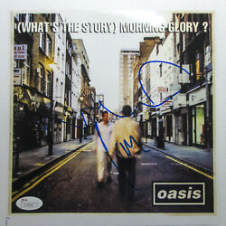 Liam And Noel Gallagher Signed Oasis 'what's The Story' 8x10 Photo Exact Proof Jsa