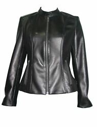 Plus Size And All 4062 Leather Moto Jackets Womens Fashion Soft Genuine