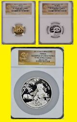 2012 Issuance Of Gold Panda S50y G50y S3y Complete Set Ngc Pf 70 Uc Very Rare