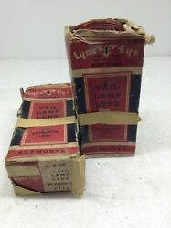 Lot Of 2 Vintage Lynx Eye 1941 Plymouth Tail Lamp Lens In Box Glass Nos