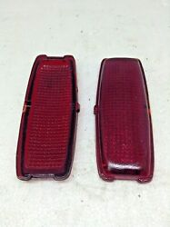 Lot Of 2 Vintage Lynx Eye 1941-42 Chevrolet Stop And Tail Lamp Lens In Box Glass