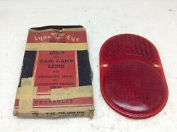 Vintage Lynx Eye 1928-30 Chevrolet Stop And Tail Lamp Lens In Box Glass Nos