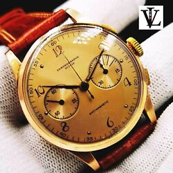 Chronographe Suisse - Solid 18k / 750 Gold - Vintage - Watch - Swiss Made