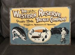 The Western Reserve Tackle Company Heavy Gauge Vintage Tin Sign